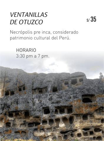 Ventanillas de otuzco en Cajamarca